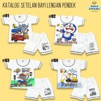 Setelan Baju Anak Bayi Lengan Pendek (Set Kaos Celana) - Katalog A