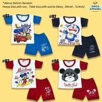 Setelan Baju Anak Bayi Lengan Pendek Kombinasi - Katalog A