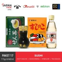 Paket Sushi Bumbu Intanst Nasi - Cuka Sushi - Kecap asin