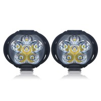 CNSUNNYLIGHT Lampu Tembak Motor LED High Beam 1000 Lumens 2 PCS - U5