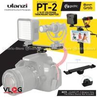 ULANZI PT-2 Dual Cold Shoe Mount Mic & LED Vlog Bracket for DSLR HP