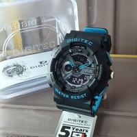 Jam Tangan Pria Digitec Double Time Original Rubber WR
