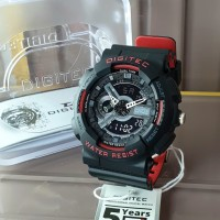 Jam Tangan Pria Digitec Double Time Original WR Two Tone