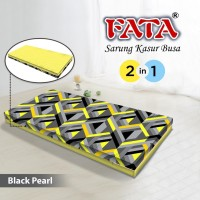 FATA SARUNG KASUR BUSA BLACK PEARL 120X200