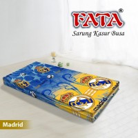 FATA SARUNG KASUR BUSA BOLA REAL MADRID 120X200