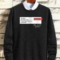 Sweater Baju Hangat Text Pattern Print Kaos Poloshirt Tshirt