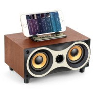 Portable Bluetooth Speaker Subwoofer FM Wood 2000mAh