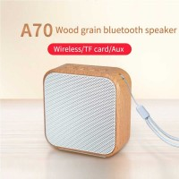 Mini Portable Bluetooth Speaker Wood Vintage