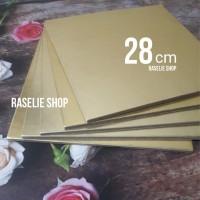 Tatakan Emas Kotak 28cm Kue Tart Ulang Tahun Alas Birthday Cake Gold