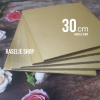 Tatakan Emas Kotak 30cm Kue Tart Ulang Tahun Alas Birthday Cake Gold