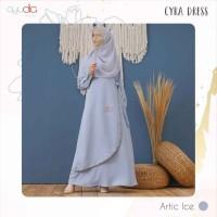 AYUDIA CYRA DRESS ARTIC ICE GAMI ONLY BUSUI POLOS BAHAN MORATTI FORMAL