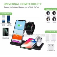 4 in 1 Wireless Charger Charging Dock For iPhone Samsung Apple Watch