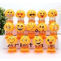 emoji BESAR hiasan motor pajangan mobil boneka per goyang termurah