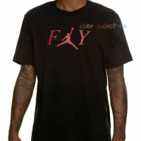 Kaos/Baju/Tshirt Keren Jordan Fly Black