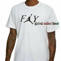 Kaos/Baju/Tshirt Keren Jordan Fly White