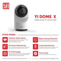 Xiaomi Yi Dome X IP Camera 1080P Full HD Versi Resmi Internasional