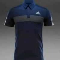 Kaos/Polo shirt/Tshirt Kaos Kerah Adidas Bahan Katun
