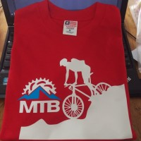Kaos/Baju/Tshirt Keren MTB Bike Downhill Red Bahan Katun
