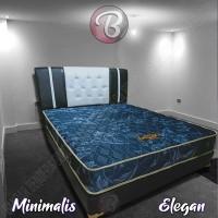 KASUR BUSA Minimalis - Idaman - Nyaman - Awet Tempat Tidur Anda BLUE
