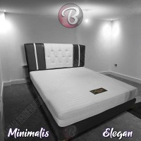 KASUR BUSA Minimalis - Idaman - Nyaman - Awet Tempat Tidur Anda White