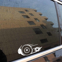 Sticker Decal Mobil Cutting Vinyl Turbo Snail Super Cepat Siput 2 buah