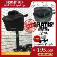 Tas Jok Brompton saddle bag sepeda lipat BLACK