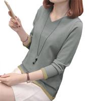 Sweater Rajut Tangan Panjang gaya Korea Leher V - JFashion Vini