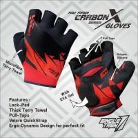 Gloves sepeda Carbon X ErgoDynamic PalmLock half finger