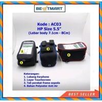 Tas Holder Cover HP AC03 Anti Air untuk Sepeda Motor Gojek Grab Mobil