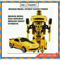 MAINAN ANAK MOBIL ROBOT TRANSFORMER BUMBBLE BEE