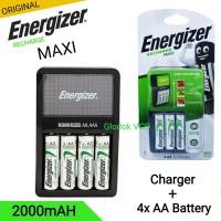 Energizer Charger + Battery AA 1.2 v 2000mAh 4pcs