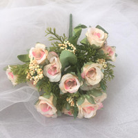 jual bunga rustic mawar mini mekar hiasan cake aksesoris