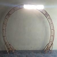 gapura back drop dekorasi weding,lingkaran ring dekor