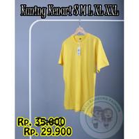 Kaos Polos Pria Premium Kuning Kenari