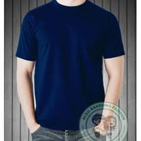 Kaos Polos Pria Cotton Combed Original Biru Navy