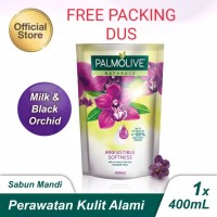 Palmolive Naturals Milk & Black Orchid Shower Gel/Sabun Mandi 400 ml