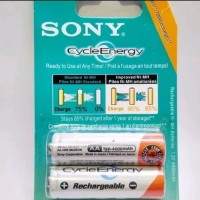 Baterai cas merk sony rechargeable AA