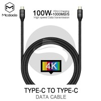 MCDODO 100W USB TYPE C TO C DATA CABLE POWER DELIVERY PD FAST CHARGING