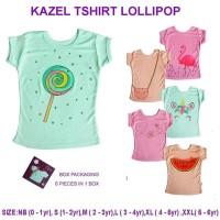 Kazel TShirt Girl Lollipop Edition / Atasan Kaos Perempuan