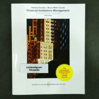 FINANCIAL INSTITUTIONS MANAGEMENT 9TH NINTH EDITION ANTHONY SAUNDERS 9
