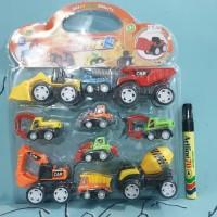 mainan mobil & truk bangunan construction truck beko mixer truk pasir