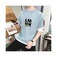 Kaos Distro Pria Lengan Pendek T-shirts Bahan Polyester LM-TX502A