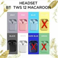 headset bluetooth tws 12 macaron