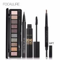 Focallure set mascara eyeliner eyebrow dan eyeshadow original