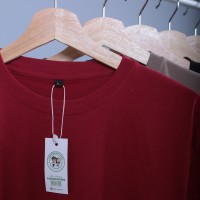 Kaos Polos Pria Original Merah Marron