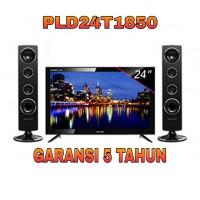 """LED TV 24"""" POLYTRON PLD 24T1850 Tower Speaker Garansi Resmi"""