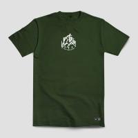 Kaos Warna Hijau Army Glow In The Dark Terbaru GITD Merek Upstain Wear