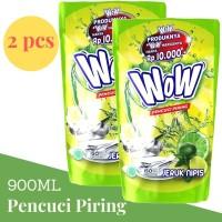 WOW Diswash Diswah Lime 900ml Pencuci Piring Jeruk Nipis x 2 Pcs Paket