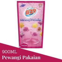 B29 Pewangi Pakaian 900ml dengan Fabric Care Lembut Pink Refill