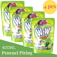 WOW Diswash Diswah Lime 400ml Pencuci Piring Jeruk Nipis x 4 Pcs